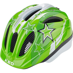 KED Meggy Helmet Kinder green stars